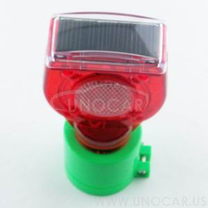 17030020 solar powered flashing light,solar power yellow flashing light,road hazard warning light